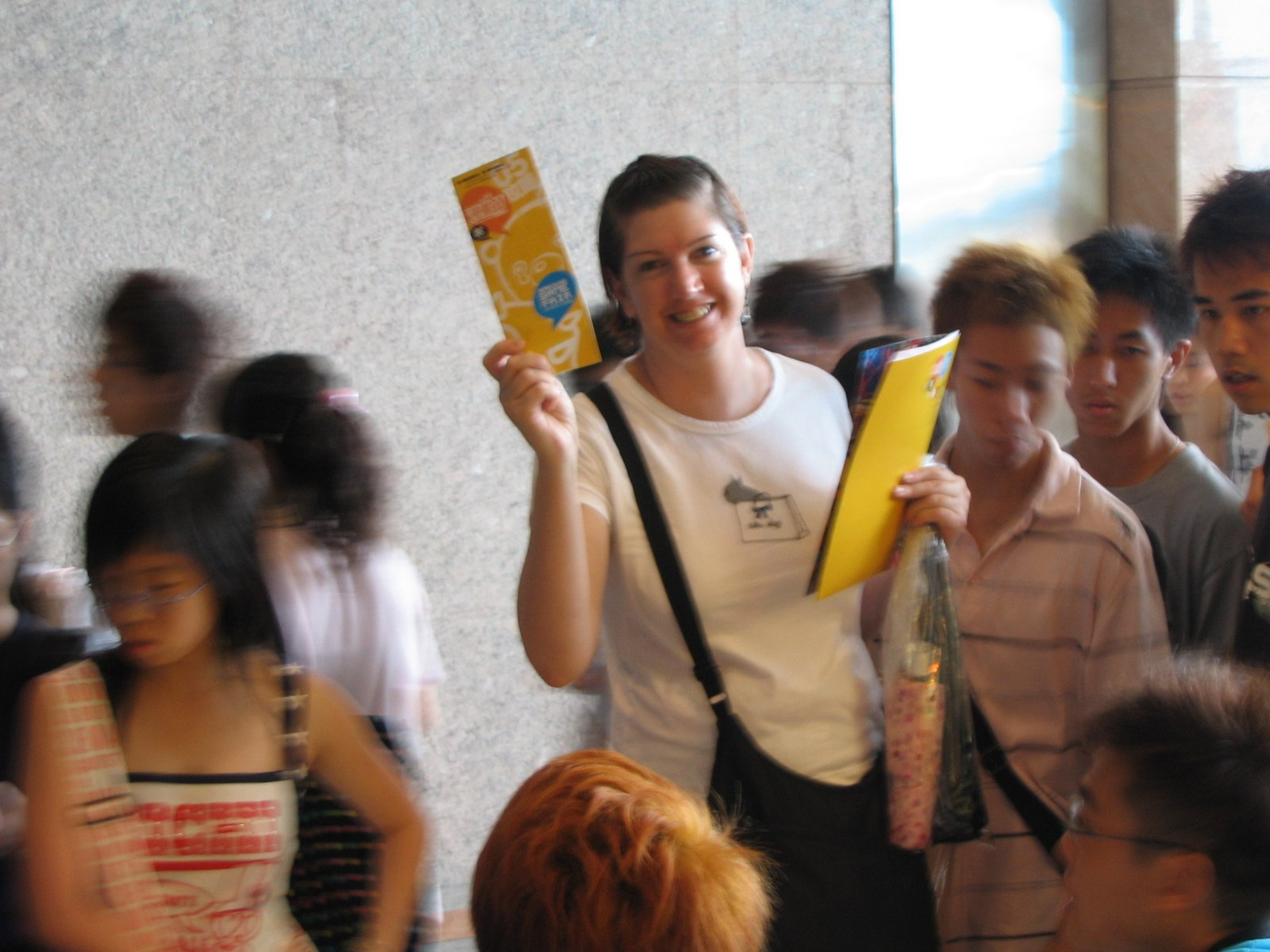 Wendy at the Comic Convention at the Hong Kong Convention Center, 2005.