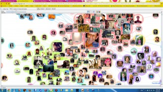 """Touchgraph"" of my Facebook friend network"